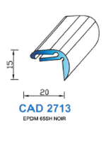 CAD2713N PROFIL EPDM - 65SH - NOIR