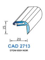 CAD2713N Profil EPDM   65 Shore   Noir