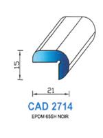 CAD2714N PROFIL EPDM - 65SH - NOIR