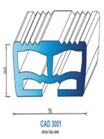 CAD3001G PROFIL EPDM - 70SH - GRIS