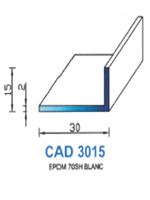 CAD3015B Profil EPDM   70 Shore   Blanc