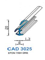 CAD3025G PROFIL EPDM - 70SH - GRIS