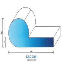CAD3041N Profil EPDM   70  Shore   Noir