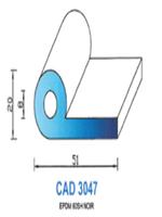 CAD3047N Profil EPDM   60 Shore   Noir
