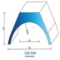 CAD3049N Profil EPDM   65 Shore   Noir