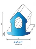 CAD4017N Profil EPDM   65 Shore   Noir