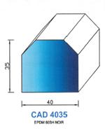CAD4035N Profil EPDM   60  Shore   Noir