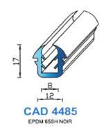 CAD4485N Profil EPDM   65 Shore   Noir