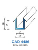 CAD4486N Profil EPDM   65 Shore   Noir