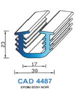 CAD4487N Profil EPDM   65 Shore   Noir