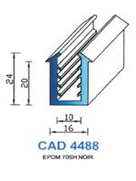 CAD4488N Profil EPDM   70 Shore   Noir