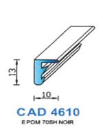 CAD4610N Profil EPDM   70 Shore   Noir