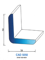 CAD5050N PROFIL EPDM - 70SH - NOIR