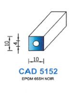 CAD5152N Profil EPDM   65 Shore   Noir