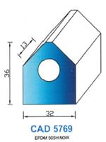 CAD5769N PROFIL EPDM - 50SH - NOIR