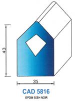 CAD5816N PROFIL EPDM - 50SH - NOIR