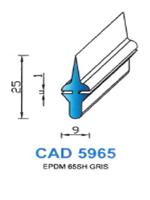 CAD5965G Profil EPDM   65 Shore   Gris