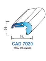 CAD7020N Profil EPDM   65 Shore   Noir