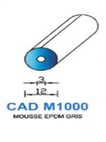 CADM1000G Profil Mousse EPDM   Gris