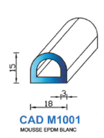 CADM1001B PROFIL MOUSSE EPDM - BLANC