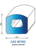 CADM1002N Profil Mousse EPDM   Noir