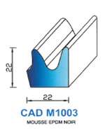 CADM1003N Profil Mousse EPDM   Noir