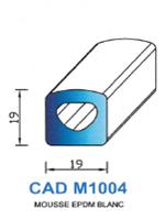 CADM1004B Profil Mousse EPDM   Blanc