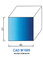 CADM1005B Profil Mousse EPDM   Blanc