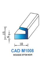 CADM1008N Profil Mousse EPDM   Noir