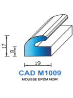 CADM1009N Profil Mousse EPDM   Noir