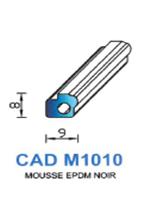 CADM1010N Profil Mousse EPDM <br /> Noir<br />