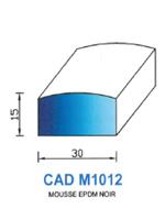 CADM1012N Profil Mousse EPDM   Noir