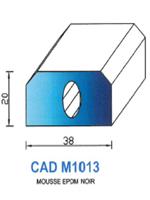 CADM1013N Profil Mousse EPDM   Noir