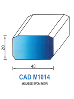 CADM1014N PROFIL MOUSSE EPDM - NOIR