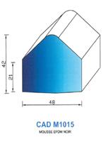 CADM1015N Profil Mousse EPDM   Noir