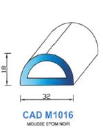 CADM1016N Profil Mousse EPDM   Noir