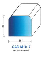 CADM1017N PROFIL MOUSSE EPDM - NOIR