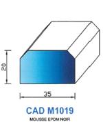 CADM1019N PROFIL MOUSSE EPDM - NOIR