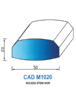 CADM1020N Profil Mousse EPDM   Noir
