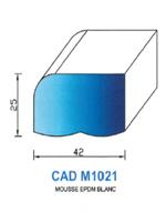 CADM1021B Profil Mousse EPDM <br /> Blanc<br />