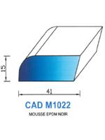 CADM1022N PROFIL MOUSSE EPDM - NOIR