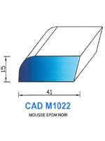 CADM1022N Profil Mousse EPDM   Noir