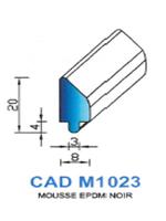 CADM1023N PROFIL MOUSSE EPDM - NOIR