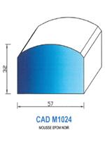 CADM1024N Profil Mousse EPDM   Noir