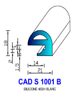 CADS1001B SILICONE Compact [45SH] BLANC
