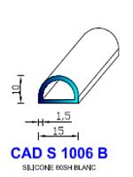 CADS1006B SILICONE Compact [60SH] BLANC