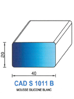 CADS1011B SILICONE Cellulaire   Blanc