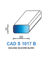 CADS1017B SILICONE Cellulaire   Blanc