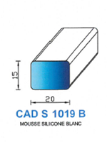 CADS1019B SILICONE CELLULAIRE - BLANC