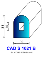 CADS1021B SILICONE Compact [50SH] BLANC